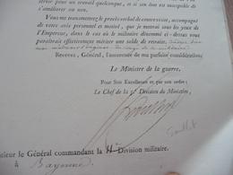Ministère De La Guerre Napoléon LAS Autographe Signée Goulnot Paris 25/03/1813 Réclamation Solde De Retraite Pommier 114 - Documenten