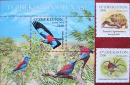 Uzbekistan  2016  Fauna  Birds   S/S +2 V MNH - Ouzbékistan