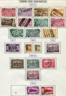 18194 BELGIQUE Collection Vendue Par Page Colis-postaux N°156/66, 167/74 176/7 °/ *  1923-34   B/TB - Belgium