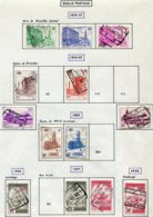18201 BELGIQUE Collection Vendue Par Page Colis-postaux N°350/B, 351, 353, 356/9, 362/5, 366/8 373/5, 377 °1953-57 B/TB - Belgium