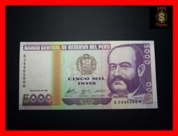 PERU 5.000  5000 Intis 28.6.1988  P. 137 G & D  UNC - Perù