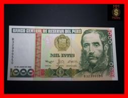 PERU 1.000  1000 Intis 28.6.1988  P. 136 B   UNC - Perù