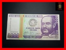 PERU 5.000  5000 Intis 28.6.1988  P. 138  IPSZ  RARE   XF \ AU - Perù