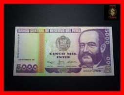 PERU 5.000  5000 Intis 9.9.1988  P. 139  TDRL  RARE    XF - - Perù