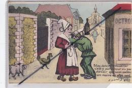 Humour Douane ; Signé E.Landry . Dites Donc Mr Le Douanier C'est Par Amour Ou Par Devoir Que Vous Mettez Vos Mains ... - Dogana