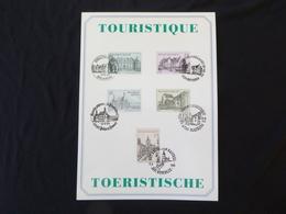 "BELG.1993 2512 2513 2514 2515 2516  Filatelic Card  : "" Tourisme "" - FDC"