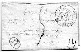Cachet 12 LUçON,1 Décime Rural Pour Fontenay Le Comte.L.S.C. - 1849-1876: Période Classique