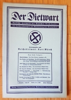 Der Dietwart, 1. Jahrgang Folge 20, 20.2..1936 - German