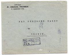 Advertising Ukraine Poland Kamyanka Lawyer 1924 V. - 1919-1939 Republic