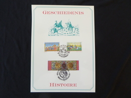 "BELG.1993 2491 2492 & 2493 Filatelic Card : "" Geschiedenis / Histoire "" - FDC"