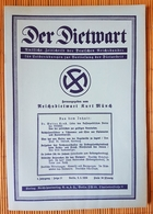 Der Dietwart, 1. Jahrgang Folge 21, 5.3.1936 - German