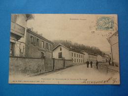 88 -  CPA   SENONES  PENSIONNAT DE DEMOISELLES ET ROUTE DE MOUSSEY VOYAGEE 1906 - Senones