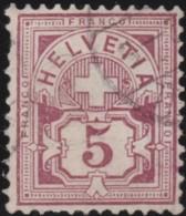 Suisse    .   Yvert        .     59  (2 Scans)          .   O      .      Oblitéré   .   /   .   Gebraucht - 1882-1906 Armoiries, Helvetia Debout & UPU