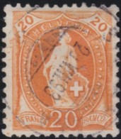 Suisse    .   Yvert        .     71       .   O      .      Oblitéré   .   /   .   Gebraucht - 1882-1906 Armoiries, Helvetia Debout & UPU