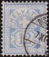 Suisse    .   Yvert        .     61        .   O      .      Oblitéré   .   /   .   Gebraucht - 1882-1906 Armoiries, Helvetia Debout & UPU