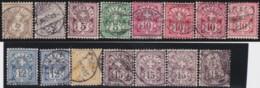 Suisse    .   Yvert        .     63/70       .   O      .      Oblitéré   .   /   .   Gebraucht - 1882-1906 Armoiries, Helvetia Debout & UPU