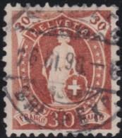 Suisse    .   Yvert        .     74       .   O      .      Oblitéré   .   /   .   Gebraucht - 1882-1906 Armoiries, Helvetia Debout & UPU
