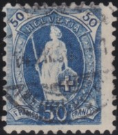 Suisse    .   Yvert        .     76       .   O      .      Oblitéré   .   /   .   Gebraucht - 1882-1906 Armoiries, Helvetia Debout & UPU