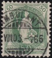 Suisse    .   Yvert        .     77      .   O      .      Oblitéré   .   /   .   Gebraucht - 1882-1906 Armoiries, Helvetia Debout & UPU