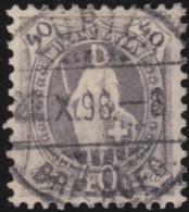 Suisse    .   Yvert        .     75      .   O      .      Oblitéré   .   /   .   Gebraucht - 1882-1906 Armoiries, Helvetia Debout & UPU
