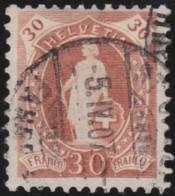Suisse    .   Yvert        .     95     .   O      .      Oblitéré   .   /   .   Gebraucht - 1882-1906 Armoiries, Helvetia Debout & UPU
