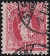 Suisse    .   Yvert        .     98     .   O      .      Oblitéré   .   /   .   Gebraucht - 1882-1906 Armoiries, Helvetia Debout & UPU