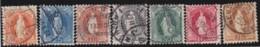 Suisse    .   Yvert        .     93/99     .   O      .      Oblitéré   .   /   .   Gebraucht - 1882-1906 Armoiries, Helvetia Debout & UPU