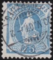 Suisse    .   Yvert        .     94     .   O      .      Oblitéré   .   /   .   Gebraucht - 1882-1906 Armoiries, Helvetia Debout & UPU