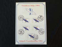 """BELG.1993 2519 FDC Filatelic Card : """" Communauté Européenne / Europese Gemeenschap """" - FDC"""