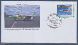 Meeting Aérien De La Base Aérienne De Bordeaux Mérignac 13 & 14 Mai 2017 Amicale De La 11ème Escadre De Chasse Jaguar - Gedenkstempels