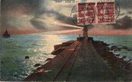 CPA   LITUANIE---MEMEL---MEMOI---1920---TIMBRRE N° 22 Y ET T  EN PAIRE ? - Lithuania