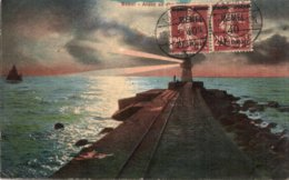 CPA   LITUANIE---MEMEL---MEMOI---1920---TIMBRRE N° 22 Y ET T  EN PAIRE ? - Lituanie