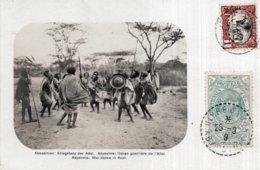 CPA   ETHIOPIE---ABESSINIEN:  KRIEGSTANZ DER ADAL---ABYSSINIE: DANSE GUERRIERE DE L'ADAL---ABYSSINIA: WAR-DANCE IN ADAL. - Ethiopia
