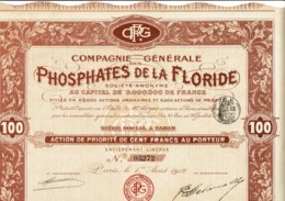 USA-PHOSPHATES DE LA FLORIDE. CIE GLE DES ... - Acciones & Títulos
