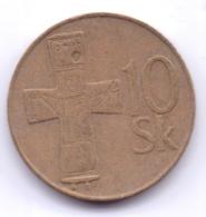 SLOVAKIA 1995: 10 Korun, KM 11 - Slovakia