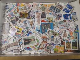 FRANCE LOT DE 100 GRAMMES ENVIRON 1000 TIMBRES OBLITERES TOUTES PERIODE TOUS DÉCOLLÉS - Postzegels