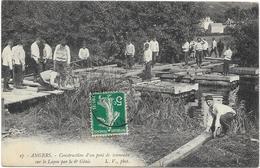 SAUMUR : 6° GENIE - CONSTRUCTION D'UN PONT DE TONNEAUX - Saumur