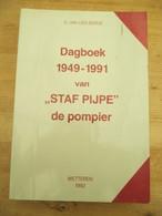Wetteren Brandweer Dagboek 1949 1991 Staf Pijpe Pompier 572 Blz Gesigneerd - History