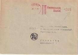 ALLEMAGNE 1945 ZONE SOVIETIQUE LETTRE EMA DE CHEMNITZ - Zone Soviétique