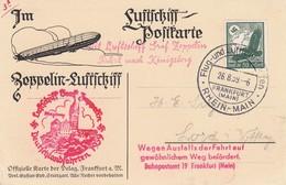 Allemagne - Zeppelin - Carte Oblitérée 2608/1939 - Francfort/? - Zeppelins