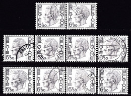 BELGIUM - Scott #758 King Baudouin / Lot Of 10 Used Stamps (k3445) - Timbres