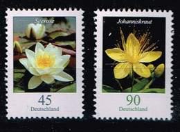 Bund 2017,Michel # 3303 - 3304 ** Blumen: Wasserlilie, Johanniskraut - Unused Stamps