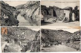 SAINT GUILHEM LE DESERT - 4 CPA - Clamouse - Entrée Des Gorges - Eglise St Laurent - Gorges (1403 ASO) - France