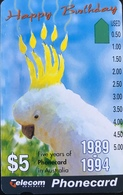 AUSTRALIE  -  Telecom Australia  -  Cacatoès  -  Happy  Birthday  -  $ 5 - Australië