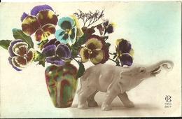 Elephant Pensees Vase Cb 867 - Fantaisies