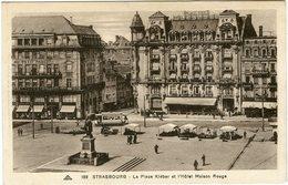 CPA 67 - Strasbourg Place Kléber Et L'Hôtel Maison Rouge N° 189 Vers 1931 - Strasbourg
