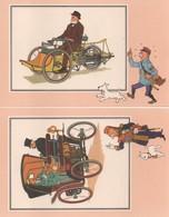 LOT DE 6 CHROMOS TINTIN DE LA COLLECTION VOIR ET SAVOIR L'AUTOMOBILE DES ORIGINE A 1900 SERIE 4 - Chromos
