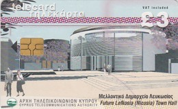 Cyprus, CYP-C-15b, Future Lefkosia (nicosia) Town Hall, 2 Scans.   GEM5 (Black)   Reprint - Cyprus