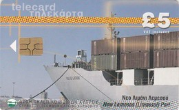Cyprus, CYP-C-16a, New Lemesos (Limassol) Port, Ship, 2 Scans.  GEM5 (Red) - Cyprus