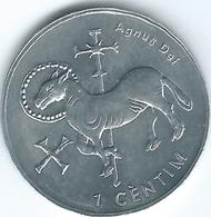 Andorra - 2002 - 1 Cèntim - Agnus Dei - KM178 - Non-circulating - Andorra